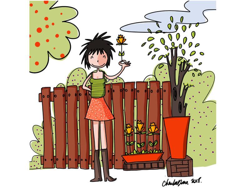 Illustration plé-plo - réalisation Humeur de filles