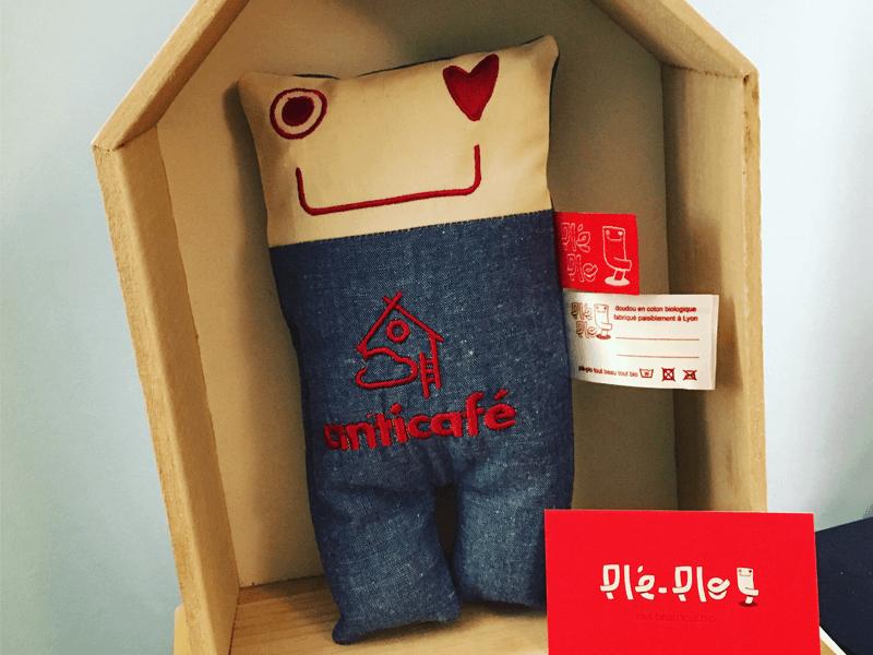 mascotte pléplo - réalisation Anticafé
